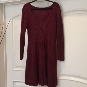 Lane Bryant 18/20 cranberry sweater dress